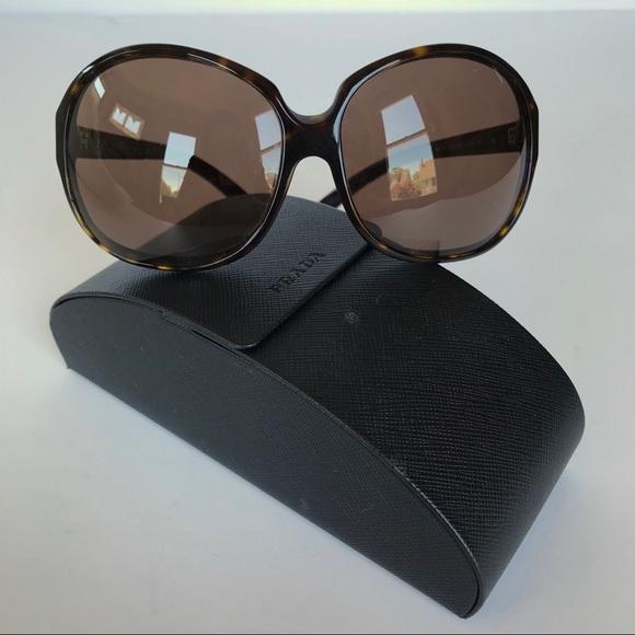597da6fe7d PRADA Tortoise Oversize Round Sunglasses Spr211